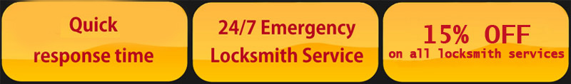 Quick response time! 24/7 emergency locksmith service